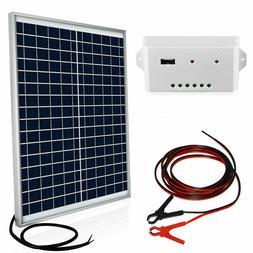 Eco-Worthy 20 Watts Solar Panel Kit 20W 12V Off Grid Battery