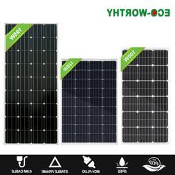 ECO-WORTHY 200W 120W 100W Mono Solar Panel 12V Battery Charg
