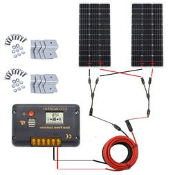 100W 12V Mono Solar Panel Kit w/ 20A LCD Controller Charging
