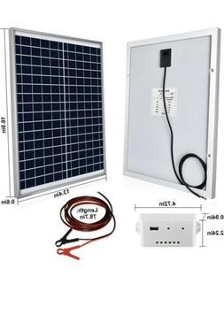 ECO-WORTHY 20W 12V Off Grid IP65 Solar Panel Kit20W Off Grid