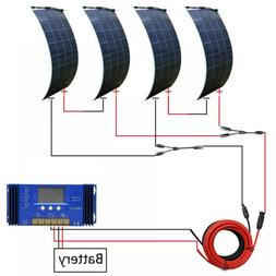 ECO 600W 300W 150W Flexible Solar Panel Kit RV Caravan Campi