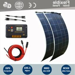 ECO-WORTHY 300W 150W Flexible Solar Panel Kit RV Caravan Cam