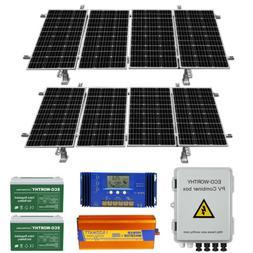 ECO-WORTHY 400W 800W Watt 24V Solar Panel Kit For Home Cabin