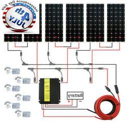 100W Watt Solar Panel Mono PV for Off Grid Kits Battery RV B