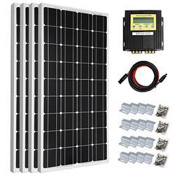 DC HOUSE 400 Watt Solar Premium Kit: 4pcs 100 Watt 12 Volt M