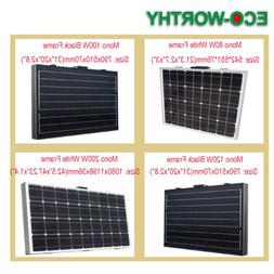ECO-WORTHY Portable Folding Solar Panel 50W  100W 120W 200W