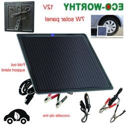 ECO-WORTHY Portable 7W Solar Panel 12V Battery Trickle Charg