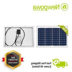 NewPowa 10W Watt 12V Poly Solar Panel Module Marine Off Grid