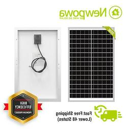 NewPowa High Effciency 30W watt 12V Solar Panel Mono Module