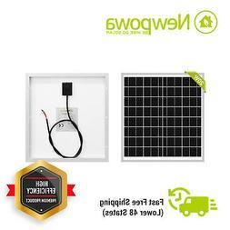 NewPowa High Effciency 20W Watt 12V Poly Solar Panel Module