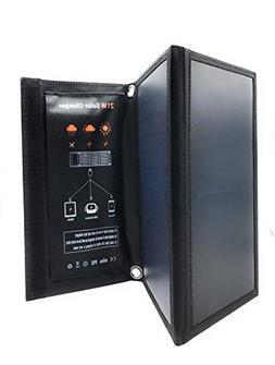 COAX 21W High Efficiency Foldable Solar Panel 2 USB Port Cha