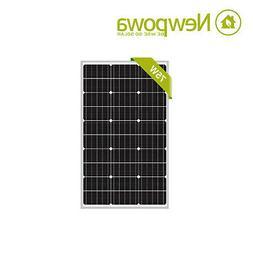 NewPowa 75W Watt 12V Mono Solar Panel Module RV BOAT OFF GRI