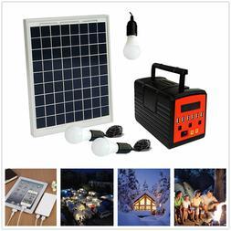 Emergency Solar Generator Lighting System Kit 12V 10W with S
