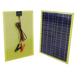 ECO-WORTHY 20 Watts Epoxy Solar Panel with 2m Cable & 30A Cl