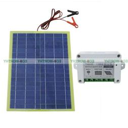 20W 12V Epoxy Solar Panel & Solar Charger Controller & Batte