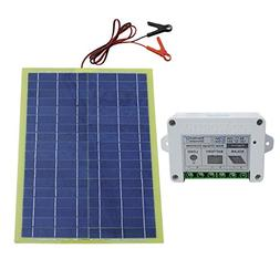 20W Epoxy Solar Panel Kit with 10A Controller for 12V Campin