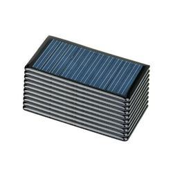AOSHIKE 10Pcs 5V 60MA Epoxy Solar Panel Polycrystalline Sola