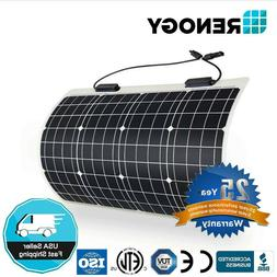 Renogy 50 Watt 12 Volt Extremely Flexible Monocrystalline So