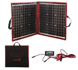 Flexible Black Solar Panel Fordable Volt Controller Mono Cry
