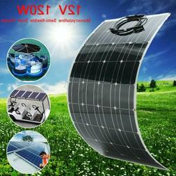 Flexible Solar Panel 12V 120W Solar Charger Monocrystalline