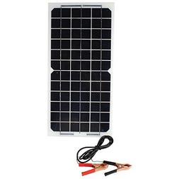 10W Flexible Solar Panel 12V Auto Car Motor Charger with All