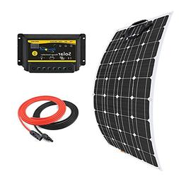 Giosolar 100W Flexible Solar Panel Charger Kit Monocrystalli