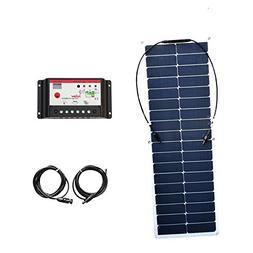 50W 18v Flexible Solar Panel Kit System High Effciency Mono