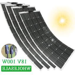 Flexible Solar Panels 100W 18V Monocrystalline + MC4 Connect