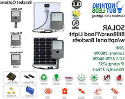 20W Solar Flood/Billboard LED Light, 2800lm, 2700K-6000K, Ip