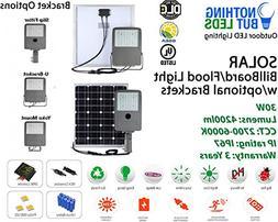 30W Solar Flood/Billboard LED Light, 4200lm, 2700K-6000K, Ip