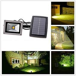10W LED Flood Lights Landscape Spot Flood Light Kit Solar Fl