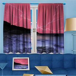 AmaPark Flower Design Foil Printed Thermal Insulated Window