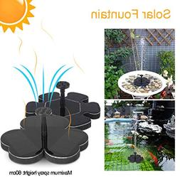 Seaskyer Flower Type Gardening Solar Panel Fountain Water Pu