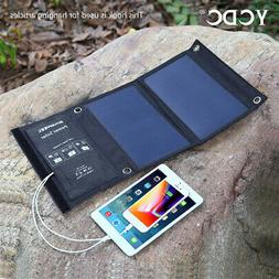 foldable 5v solar panel charger travel dual