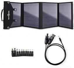 ROCKPALS Foldable 60W Solar Panel Charger for Suaoki/Jackery