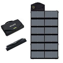 GIARIDE 18V 80W Foldable Solar Charger Dual 5V USB+18V DC Ou