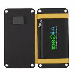 AllGear Foldable Solar Charger 15W Solar Panel with Dual USB