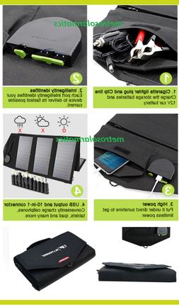 Allpowers 60W Foldable Solar Panel 12V Battery Charger Compu