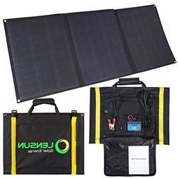 Lensun 100W Foldable Solar Panel Kit, 12V Ultralight Folding