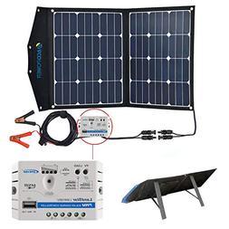 ACOPOWER 12V 70 Watt Foldable Solar Panel Kit; Portable Sola