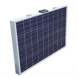 ECO LLC 200W Folding Portable PV Solar Panel System 12V Camp