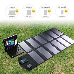 Folding Solar Panel 18V 80W Portable Power Bank Battery Char