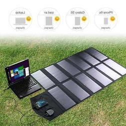 Folding Solar Panel 18V 80W Portable Power Bank Battery Char