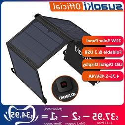 <font><b>Suaoki</b></font> 21W <font><b>Solar</b></font> <fo