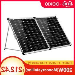 <font><b>Dokio</b></font> Brand 200W Foldable <font><b>Solar