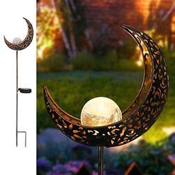Homeimpro Garden Solar Lights Pathway Outdoor Moon Crackle G