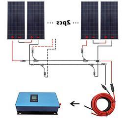 ECO-WORTHY 1000W Gird Tie Solar System Kit 6x 150W Solar Pan
