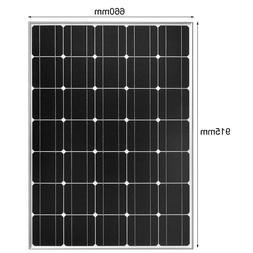 Glass Solar panel 100w 12v Flexible Monocrystalline silicon