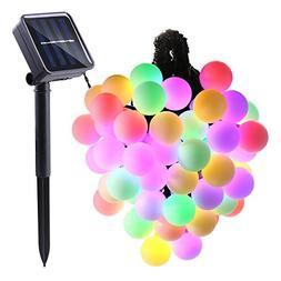 LUCKLED Globe Solar String Lights, 21ft 50 LED Outdoor Strin