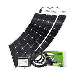 Unlimited Solar 200 Watt 36V Golf Cart Flexible Solar Chargi